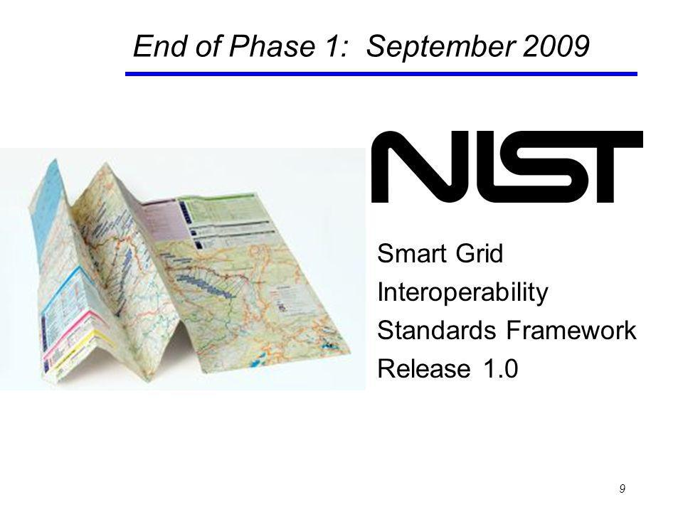 End of Phase 1: September 2009 Smart Grid Interoperability Standards Framework Release 1.0 9