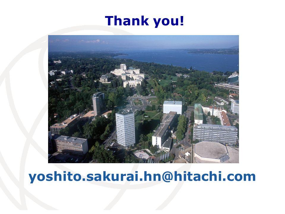 yoshito.sakurai.hn@hitachi.com Thank you!