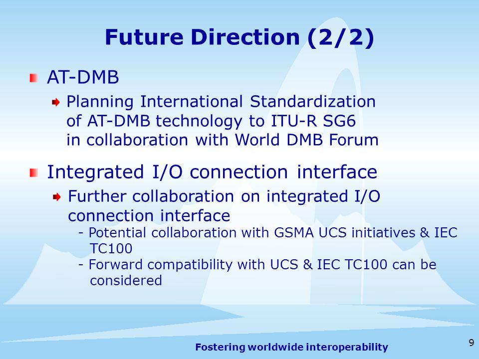 Fostering worldwide interoperability 10 Geneva, 13-16 July 2009 Supplementary Slides
