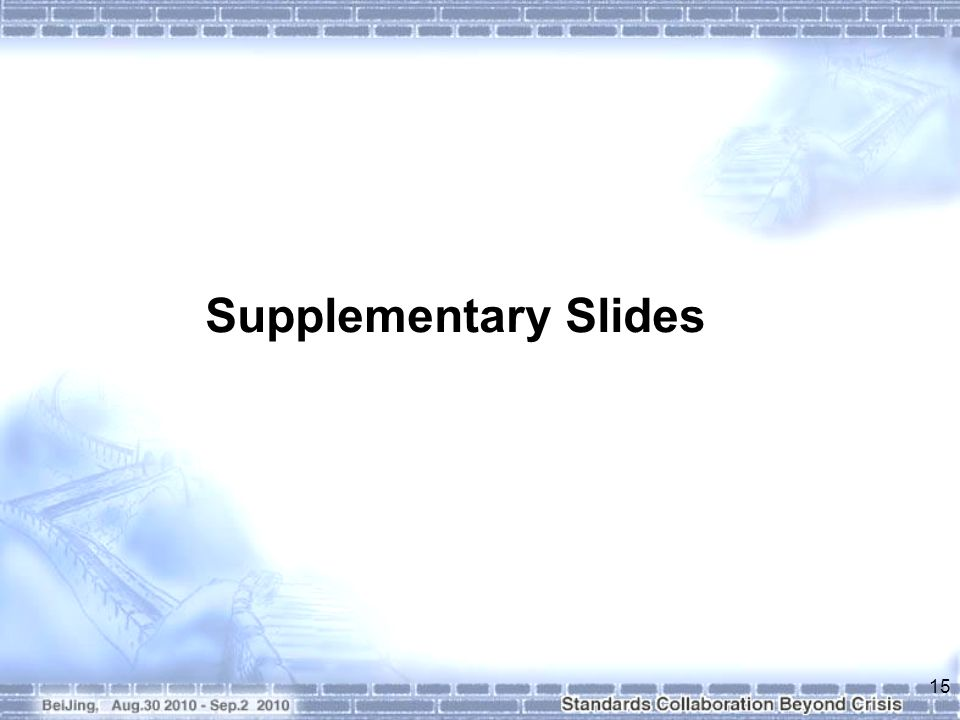 Supplementary Slides 15