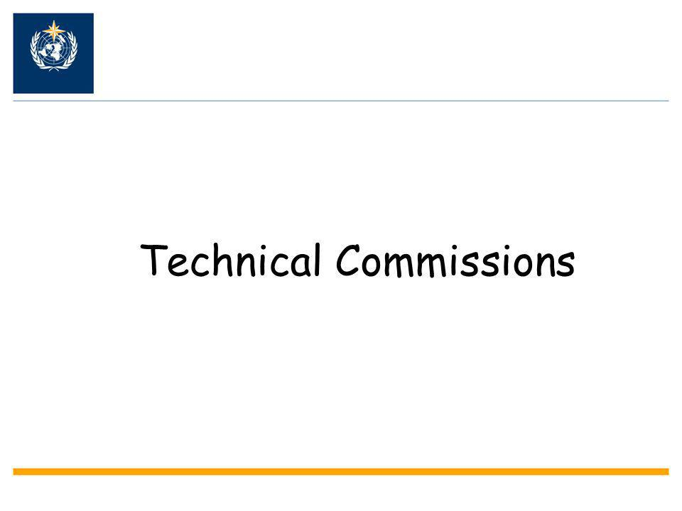 Technical Commission (CBS) CBS CIMO CHy CAS CAeM CAgM CCl JCOMM Areas for capacity building: GOS.