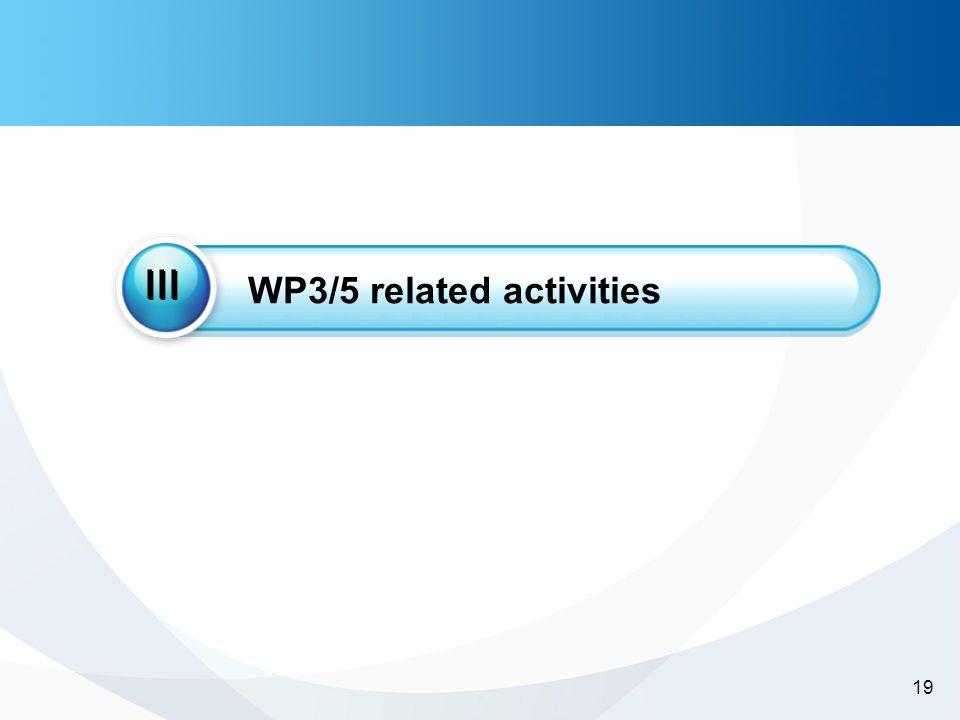 -19- 19 WP3/5 related activities III