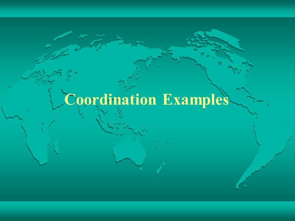 Coordination Examples