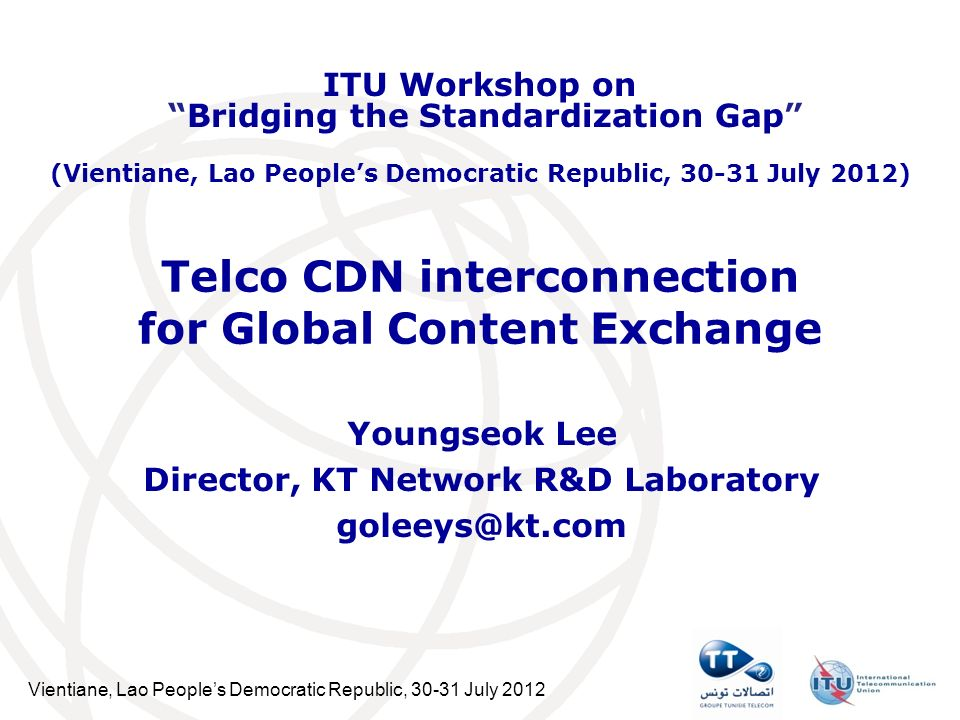 Table of Contents CDN Market Status Global CDN Market Expectation End User Requirement about Content Delivery Key Issue for End User Requirement Telco CDN based on Smart Pipe Why Telco CDN Interconnection .