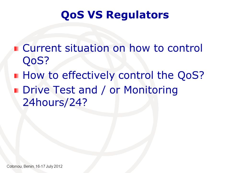 Current situation on how to control QoS. How to effectively control the QoS.