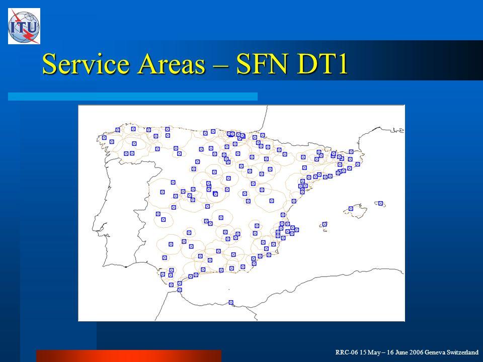 RRC-06 15 May – 16 June 2006 Geneva Switzerland Service Areas – SFN DT1