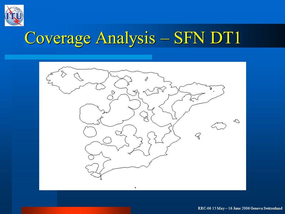 RRC-06 15 May – 16 June 2006 Geneva Switzerland Coverage Analysis – SFN DT1