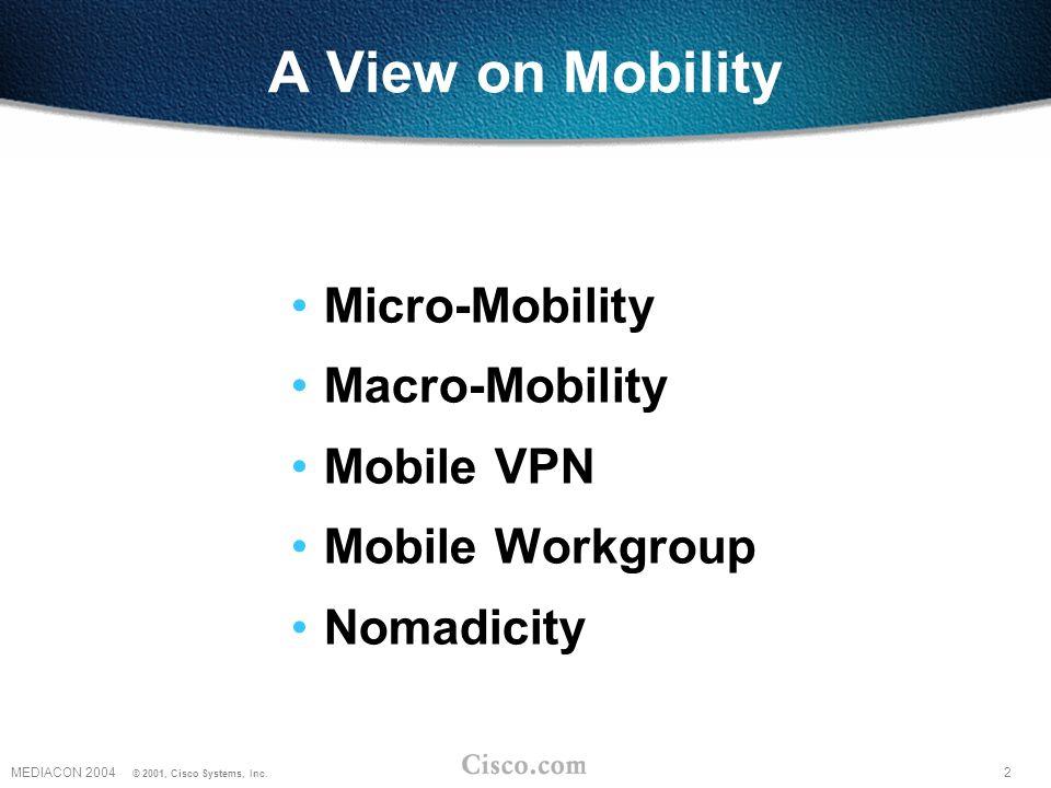2MEDIACON 2004 © 2001, Cisco Systems, Inc.