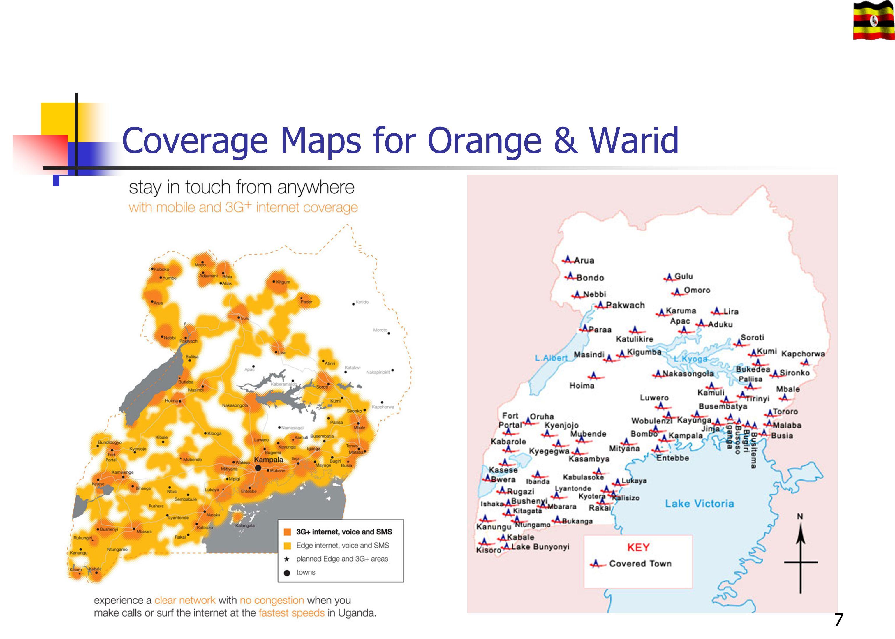 Coverage Maps for Orange & Warid 7