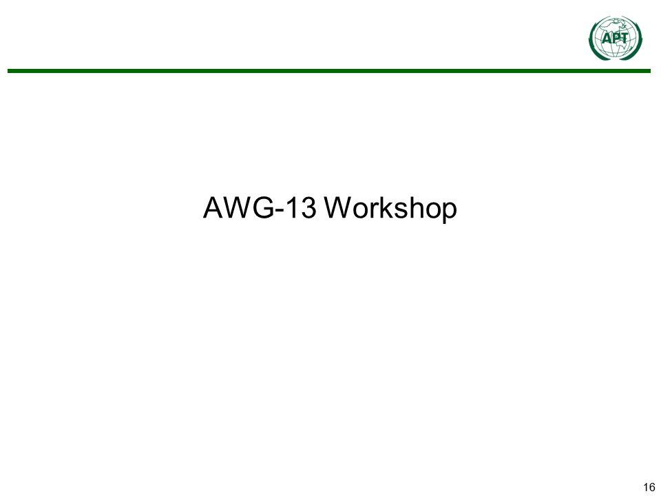 16 AWG-13 Workshop