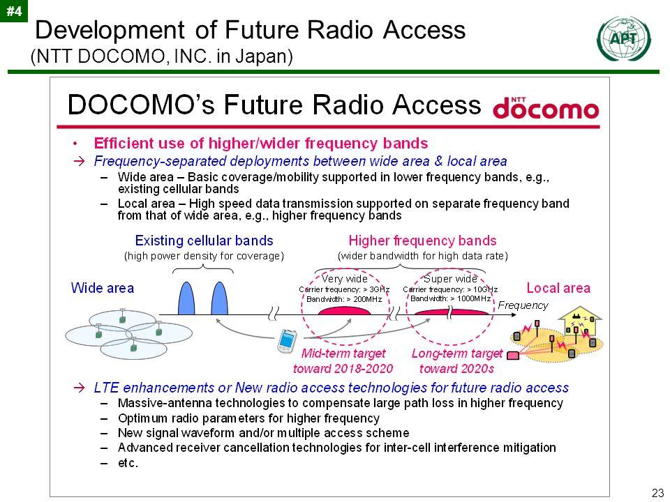 23 Development of Future Radio Access (NTT DOCOMO, INC. in Japan) #4
