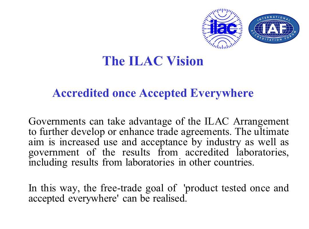 International Partnerships ILAC has signed a Memorandum of Understanding (MOU) with the following organisations: – CIPM - ILAC MoU – ICSCA - ILAC MoU – IAF - ISO - ILAC MoU – UNIDO - IAF - ILAC MoU – IEC - ILAC MoU – ILAC - IAF - OIML MoU – WADA - ILAC MoU – IFCC – ILAC MoU