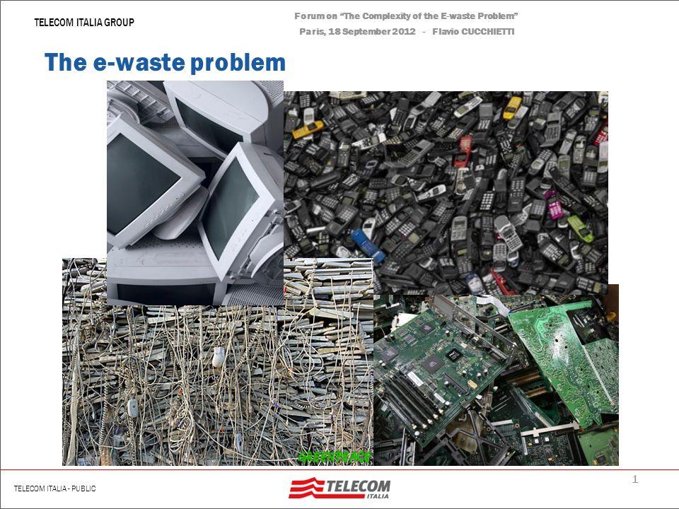 Forum on The Complexity of the E-waste Problem Paris, 18 September 2012 Flavio CUCCHIETTI – Telecom Italia The Complexity of the E-waste Problem