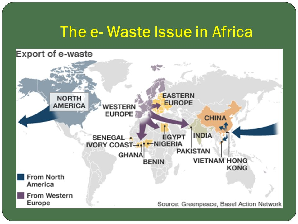 The e- Waste Issue in Africa