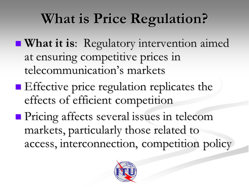 What is Price Regulation.