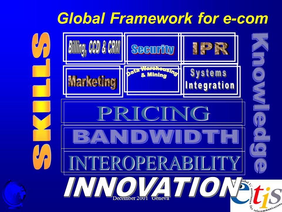 December 2001 Geneva 43 Global Framework for e-com