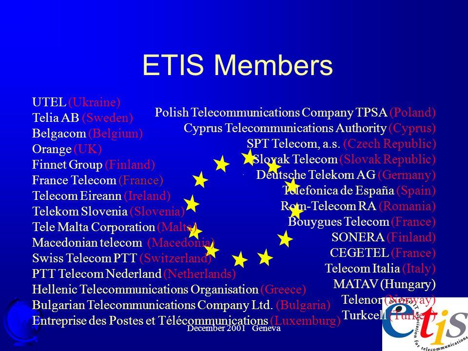 December 2001 Geneva 5 Polish Telecommunications Company TPSA (Poland) Cyprus Telecommunications Authority (Cyprus) SPT Telecom, a.s.