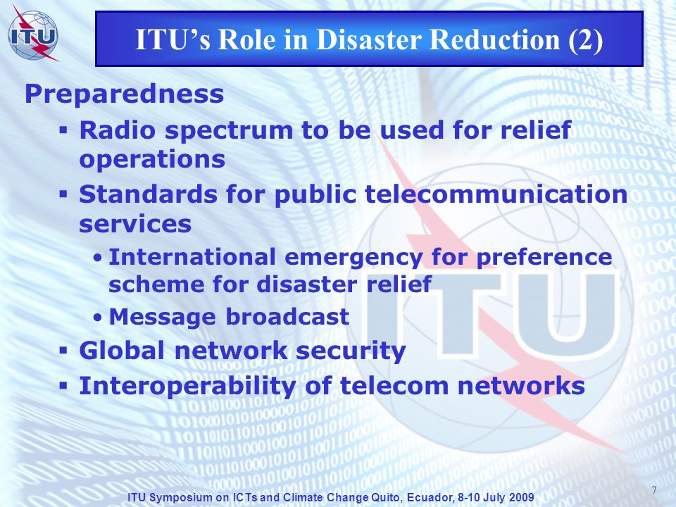 ITU Symposium on ICTs and Climate Change Quito, Ecuador, 8-10 July 2009 18 Some ITU Recommendations on ET (1) Rec.
