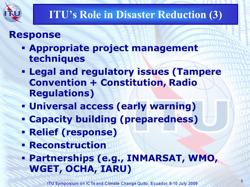ITU Symposium on ICTs and Climate Change Quito, Ecuador, 8-10 July 2009 19 Some ITU Recommendations on ET (2) Rec.