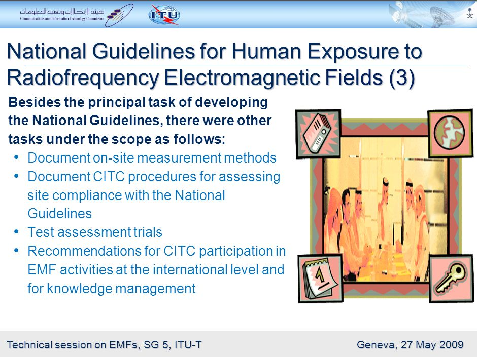 7 Technical session on EMFs, SG 5, ITU-T Geneva, 27 May 2009 National Guidelines for Human Exposure to Radiofrequency Electromagnetic Fields (2) Preli