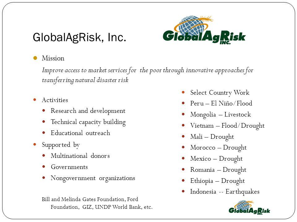 GlobalAgRisk, Inc.