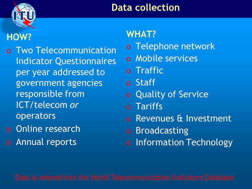 Data collection HOW.
