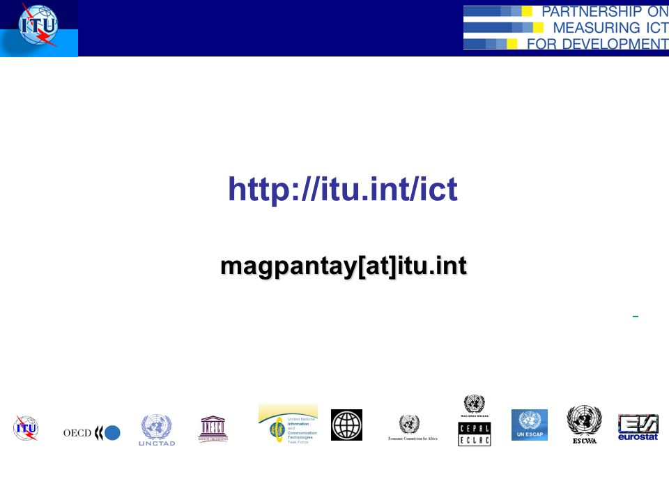 http://itu.int/ict magpantay[at]itu.int