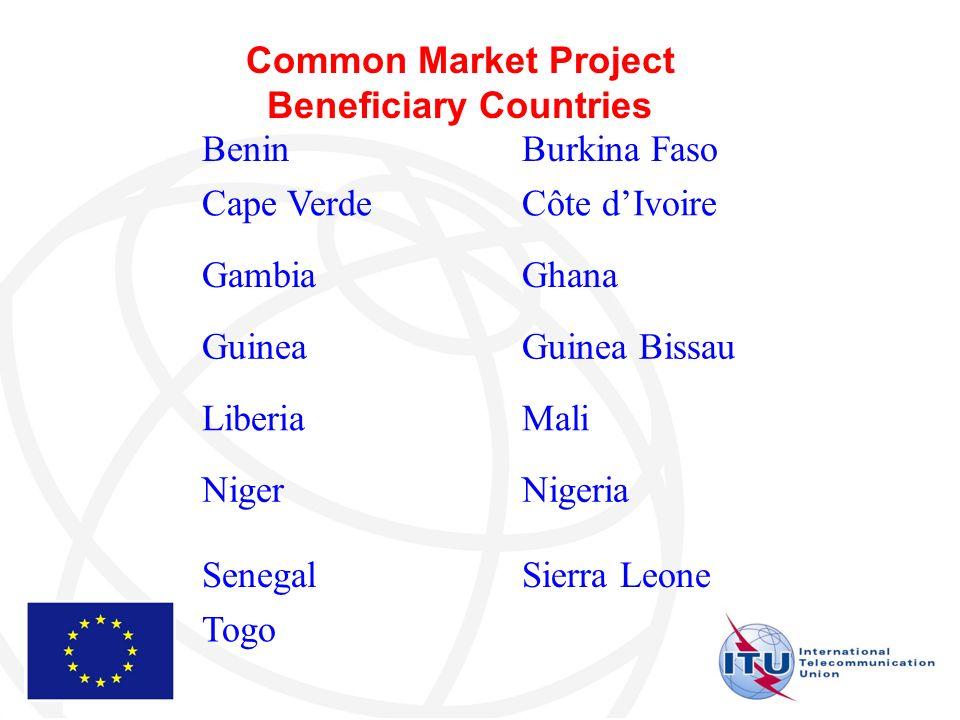 BeninBurkina Faso Cape VerdeCôte dIvoire GambiaGhana GuineaGuinea Bissau LiberiaMali NigerNigeria SenegalSierra Leone Togo Common Market Project Beneficiary Countries