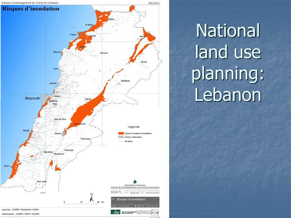 National land use planning: Lebanon