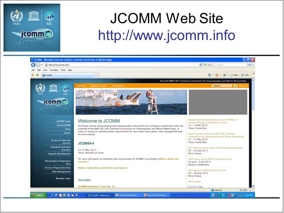 JCOMM Web Site http://www.jcomm.info