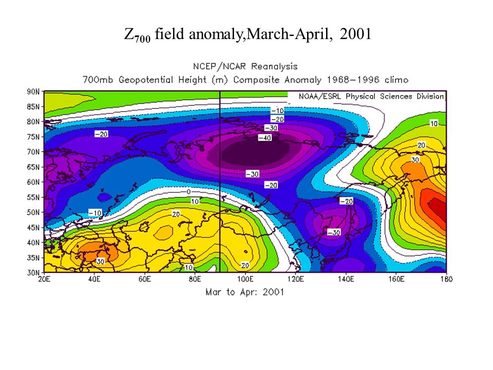 Z 700 field anomaly,March-April, 2001