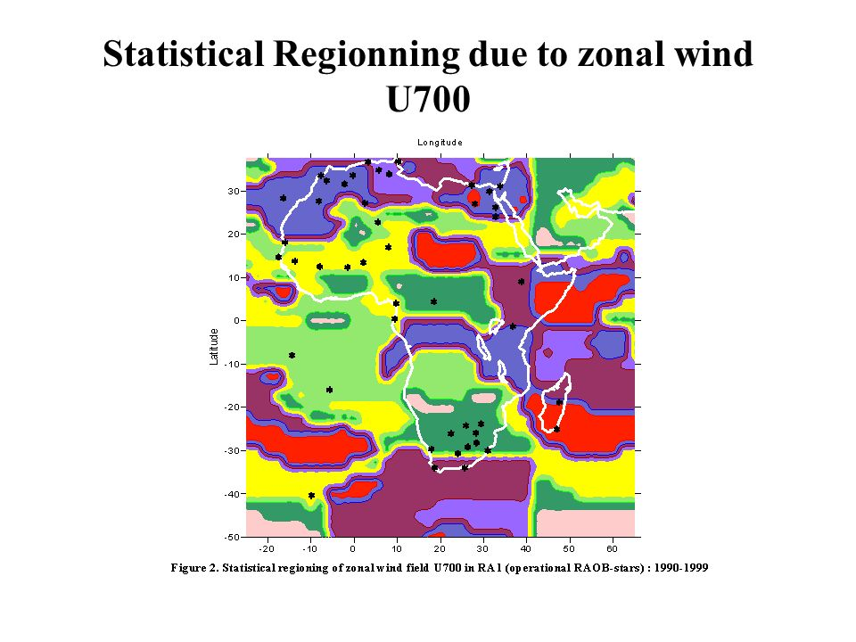 Statistical Regionning due to zonal wind U700
