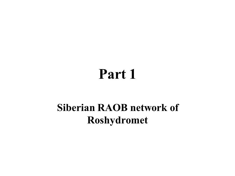 Part 1 Siberian RAOB network of Roshydromet
