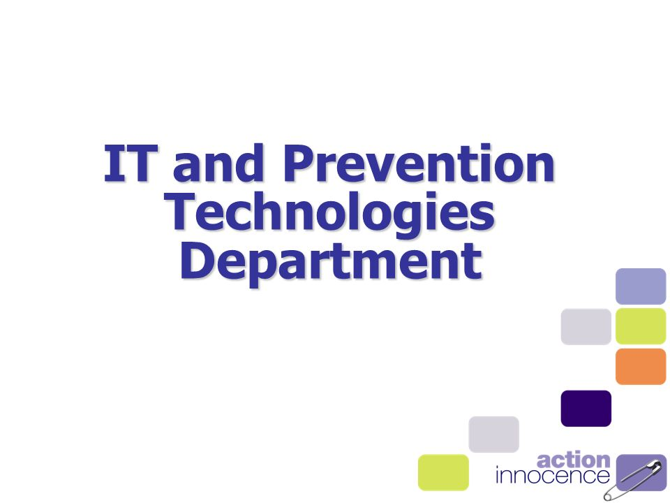 IT and Prevention Technologies Department