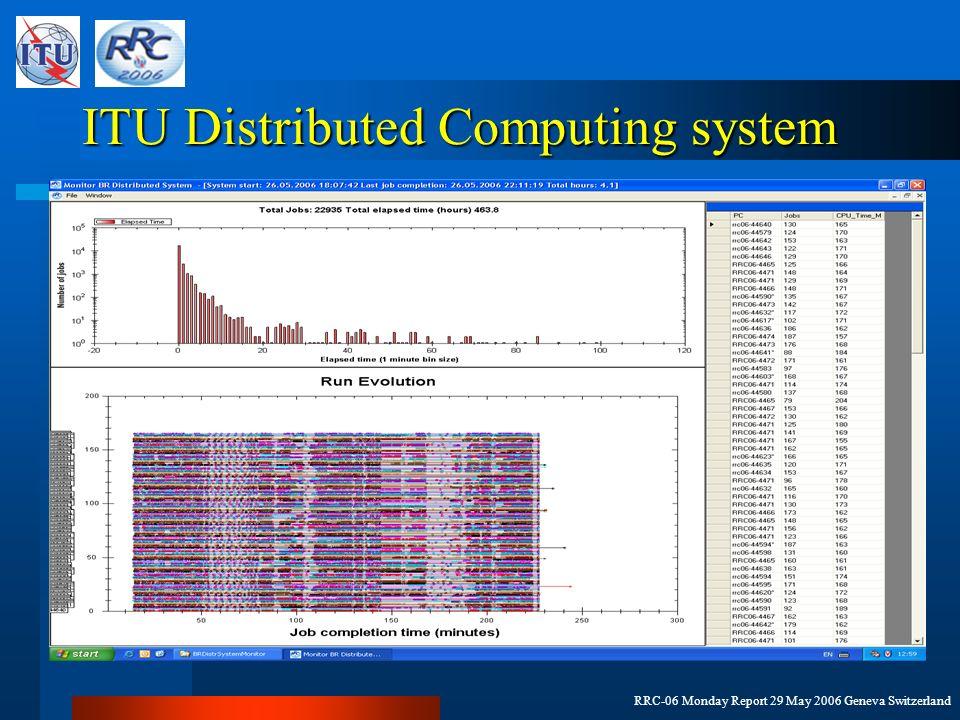 RRC-06 Monday Report 29 May 2006 Geneva Switzerland ITU Distributed Computing system