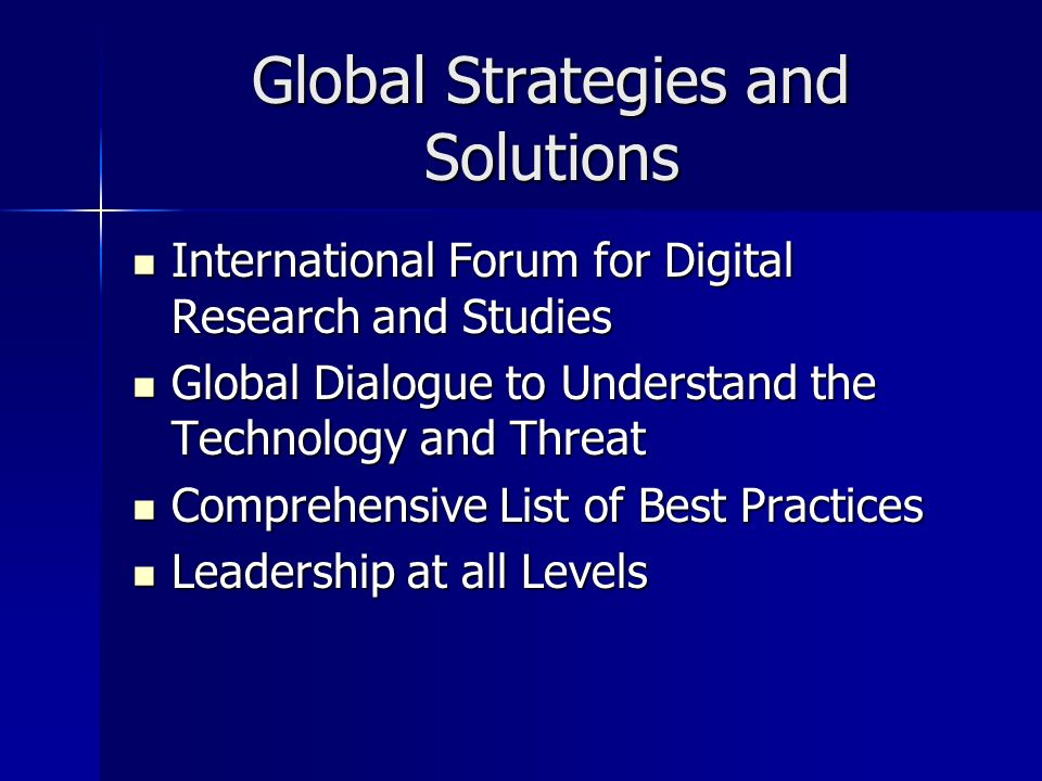 Global Strategies and Solutions International Forum for Digital Research and Studies International Forum for Digital Research and Studies Global Dialo