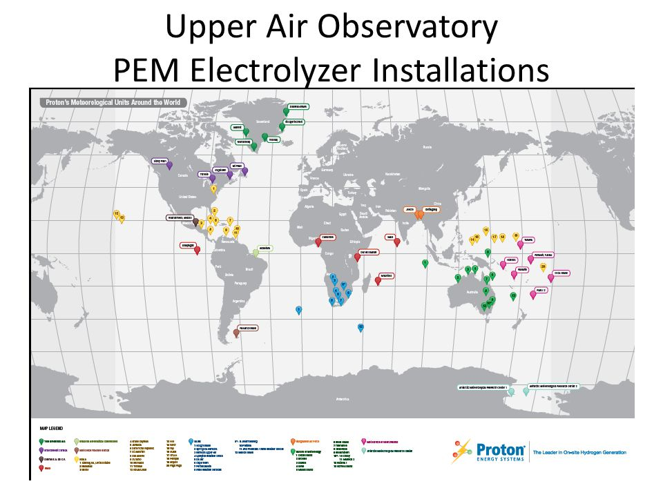 Upper Air Observatory PEM Electrolyzer Installations