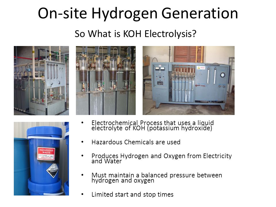 On-site Hydrogen Generation So What is KOH Electrolysis.