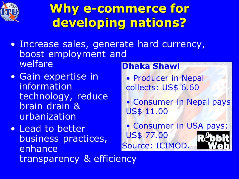 Why e-commerce for developing nations.