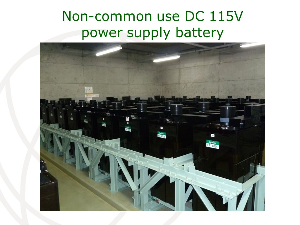 Non-common use DC 115V power supply battery