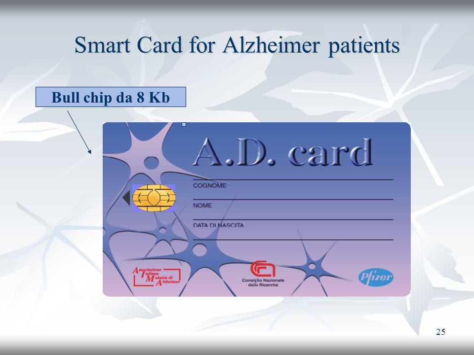 25 Smart Card for Alzheimer patients Bull chip da 8 Kb