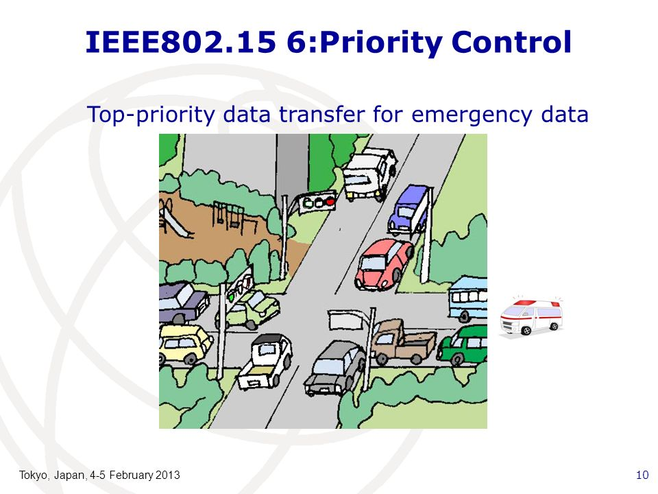 IEEE802.15 6:Priority Control Top-priority data transfer for emergency data Tokyo, Japan, 4-5 February 2013 10