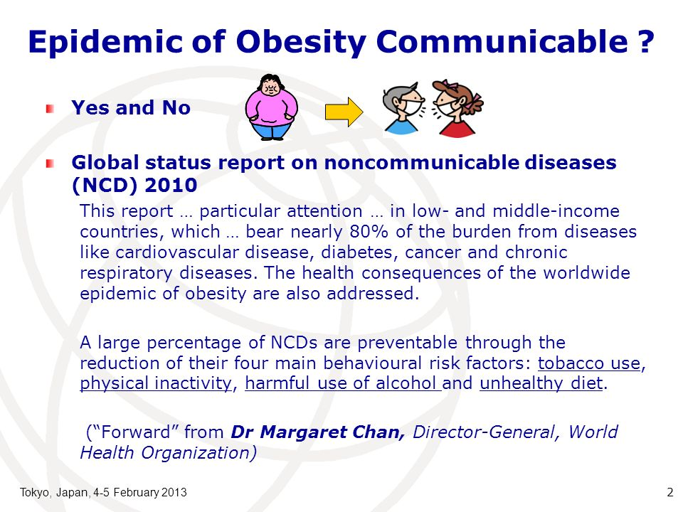 Epidemic of Obesity Communicable .