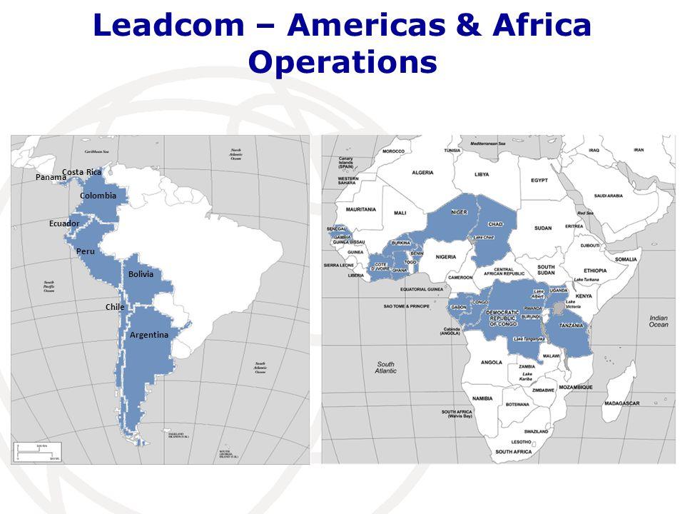 Leadcom – Americas & Africa Operations Colombia Ecuador Peru Bolivia Argentina Chile Costa Rica Panama