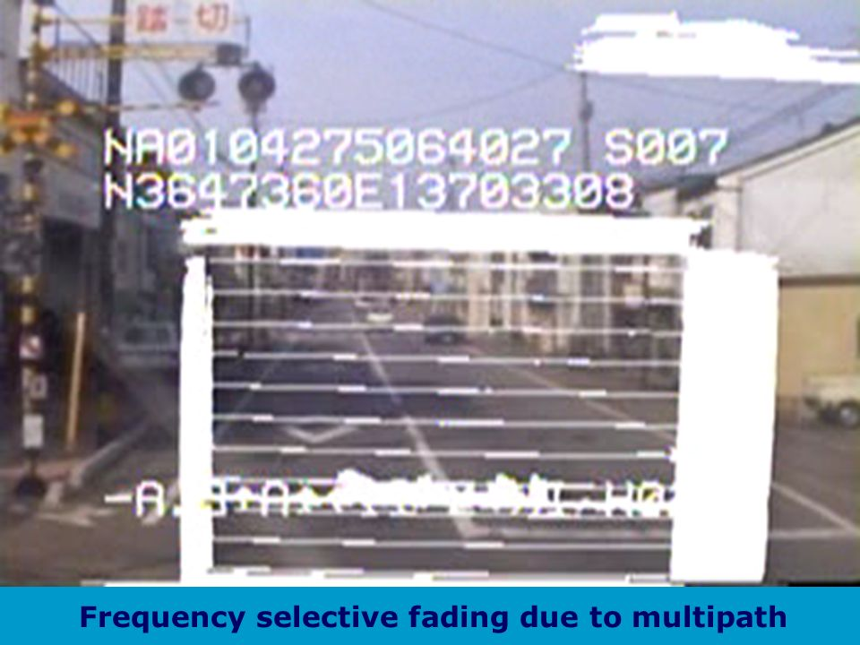 Frequency selective fading due to multipath