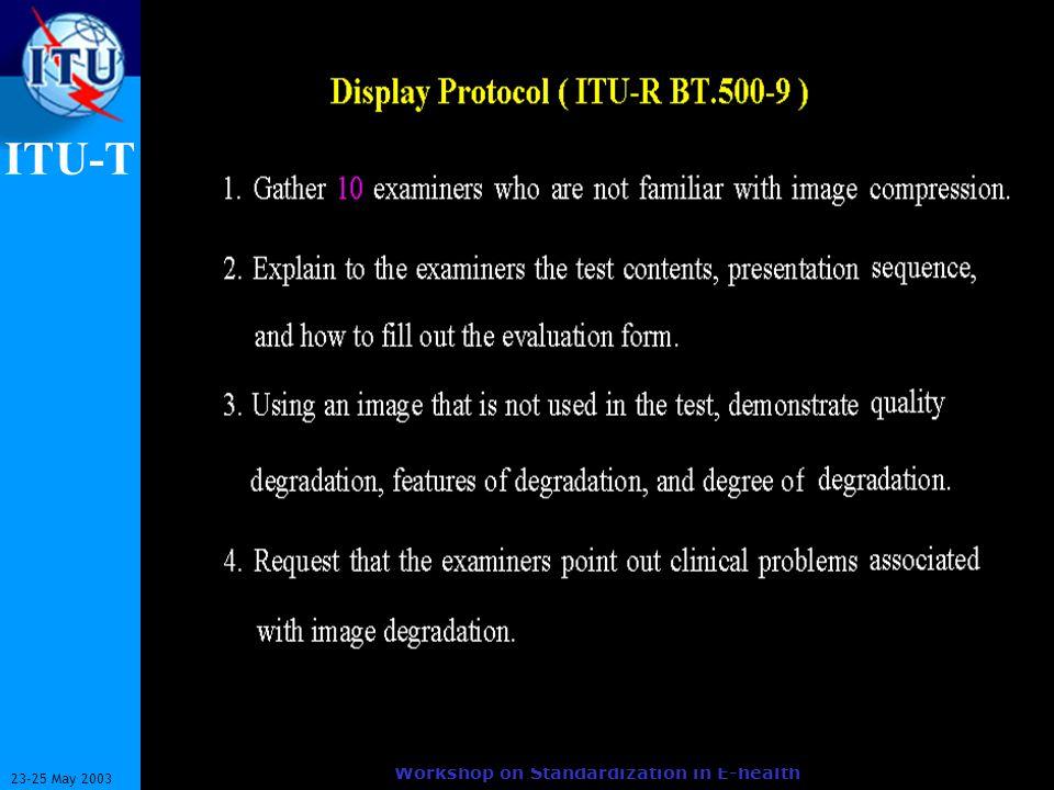 ITU-T 8 23-25 May 2003 Workshop on Standardization in E-health