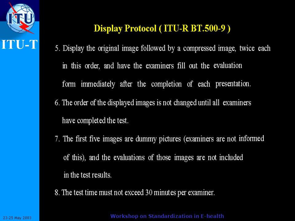 ITU-T 9 23-25 May 2003 Workshop on Standardization in E-health