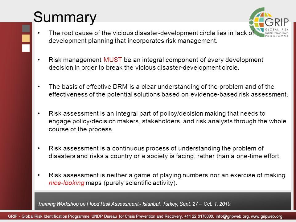 GRIP - Global Risk Identification Programme, UNDP Bureau for Crisis Prevention and Recovery, +41 22 9178399, info@gripweb.org, www.gripweb.org Trainin