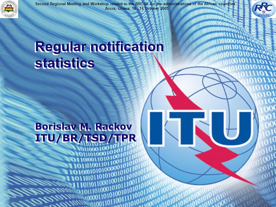 Regular notification statistics Borislav M.