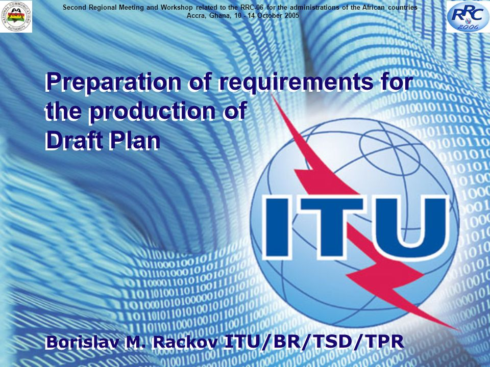 Preparation of requirements for the production of Draft Plan Borislav M.